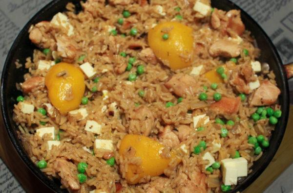Lemon Chicken, Peas & Rice