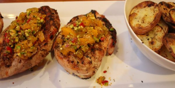 BBQ Chicken With Apricot & Pistachio Nuts