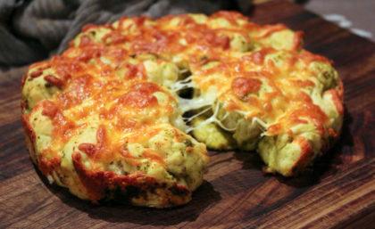 Cheesy Pesto Pull Apart Bread