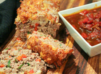 Italian Meatloaf With Chunky Tomato Sauce