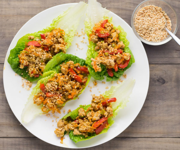 Lemongrass Chicken Lettuce Cups