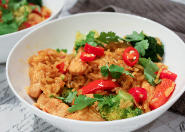 Thai Yellow Chicken Curry With Jasmine Rice