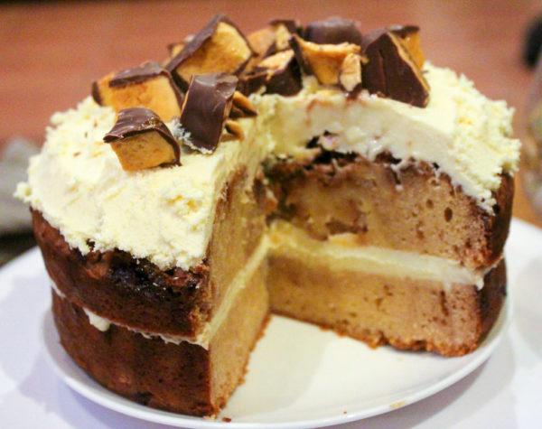 White Chocolate & Honeycomb Mud Cake