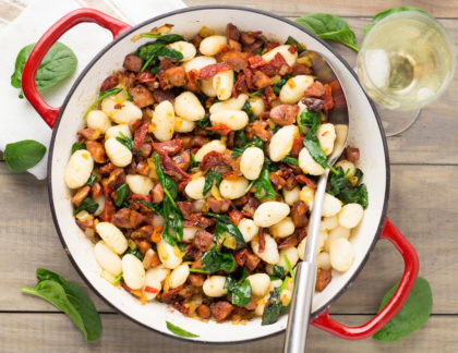 Gnocchi With Chorizo, Sun-Dried Tomatoes & Spinach