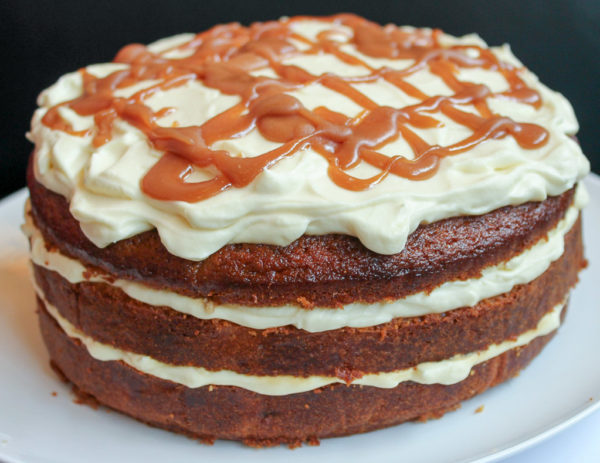 Banana Cake With Honey Cream & Caramel