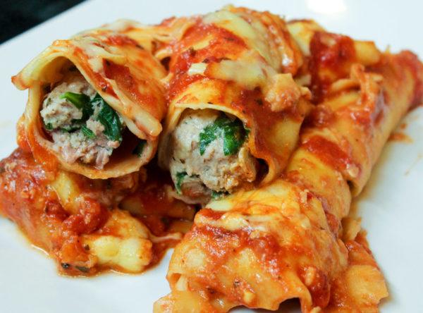 Pork, Spinach & Ricotta Cannelloni