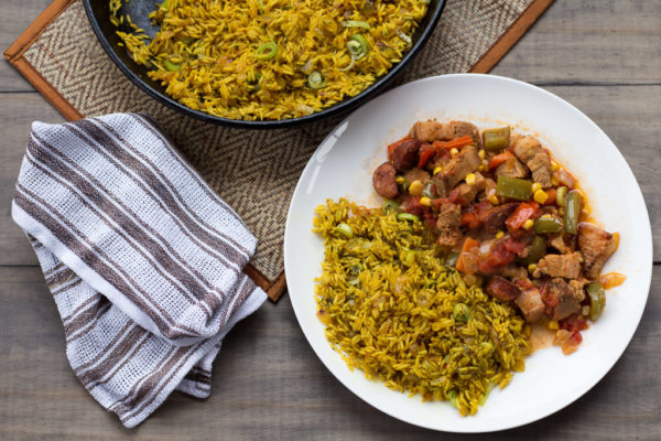 Cajun Pork Stew With Dirty Rice