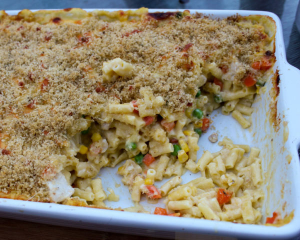Chicken & Vegetable Bake With Macaroni & Cheese