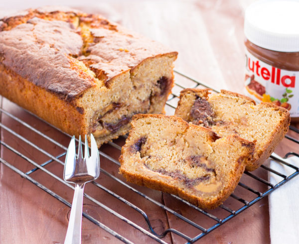 Nutella & Peanut Butter Banana Bread
