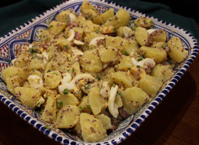 Potato Salad With Bacon & Creamy Thyme Mustard Dressing