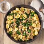 Orecchiette With Sausage, Kale & Mushrooms