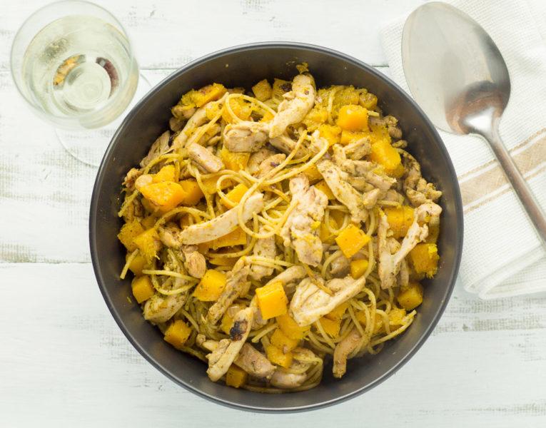 Pesto Chicken & Butternut Pumpkin Spaghetti