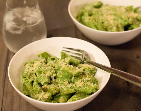 Chicken Penne With Spinach, Ricotta & Basil Pesto