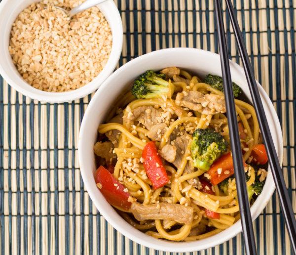 Hoisin Pork & Noodle Stir-Fry
