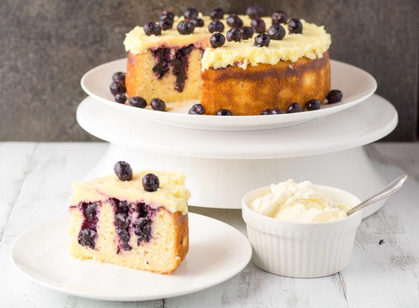 Lemon Blueberry Poke Cake