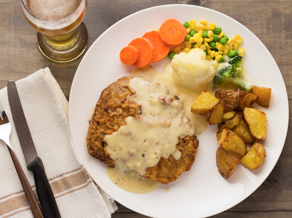 Chicken Fried Steak With Country Gravy – Icing On The Steak